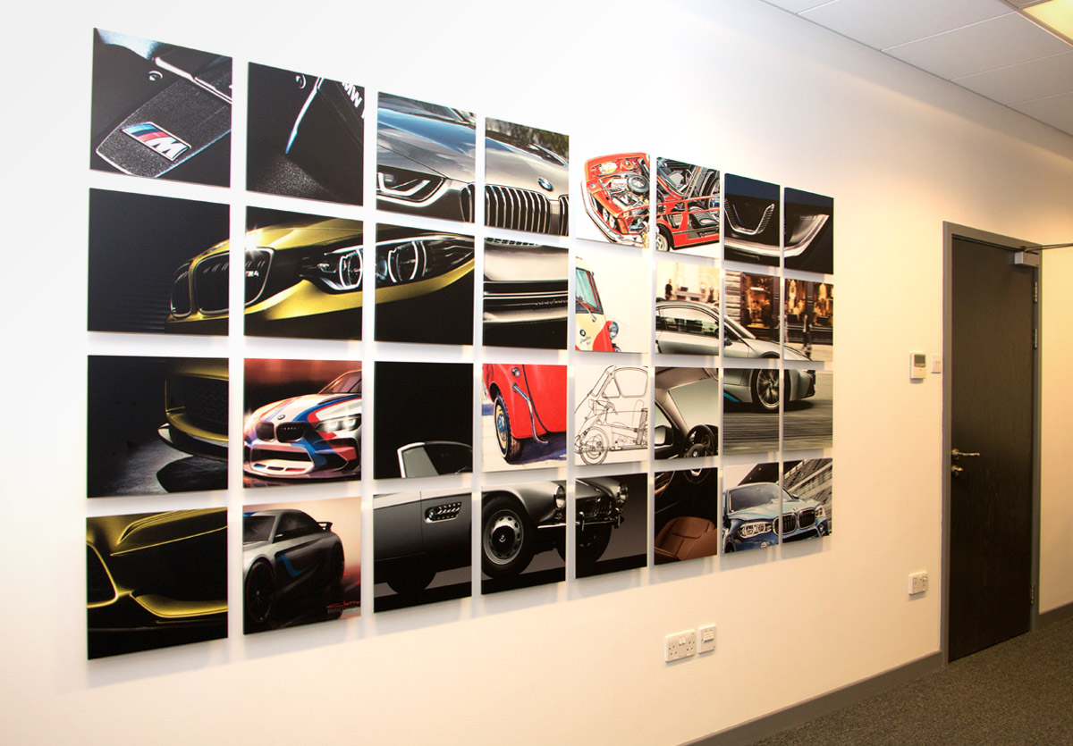 Eastern bmw meeting room wall graphics for Room wraps